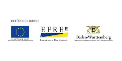 Logos der EU, EFRE sowie des Landes Baden-Württemberg